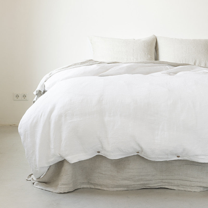 Linen duvet cover pure white