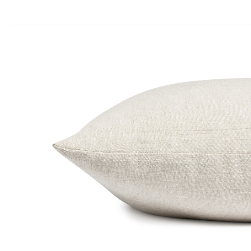 Linen cushion sea shell