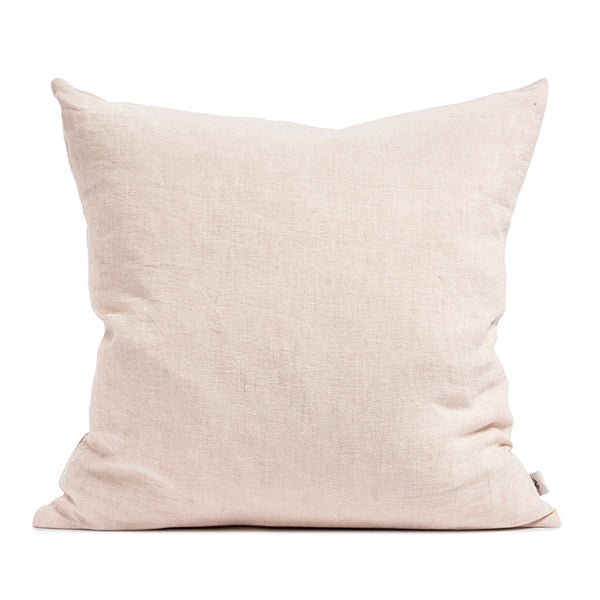 Linen cushion blush