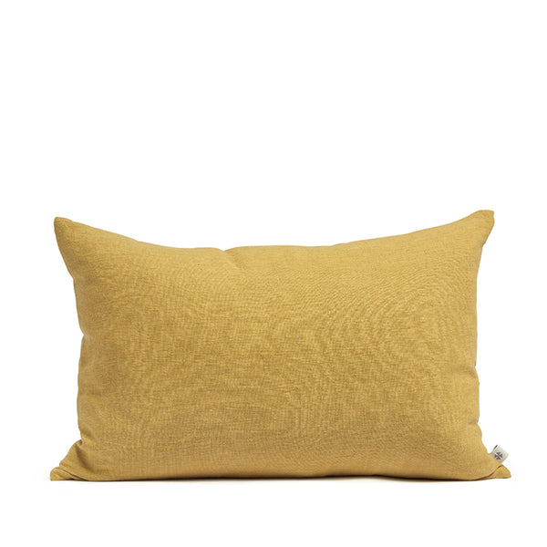 Linen cushion honey