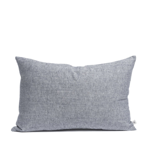 Linen cushion cloudy blue rectangular