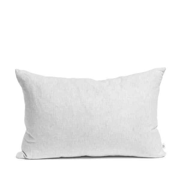 Linen cushion misty grey rectangular