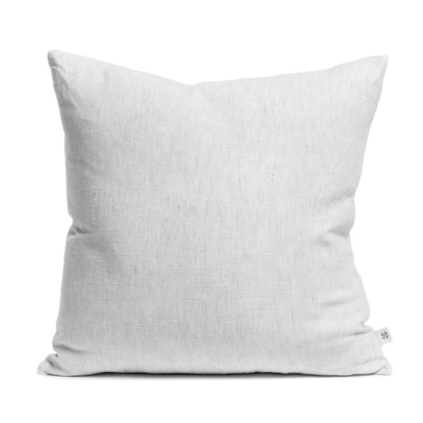 Linen cushion misty grey
