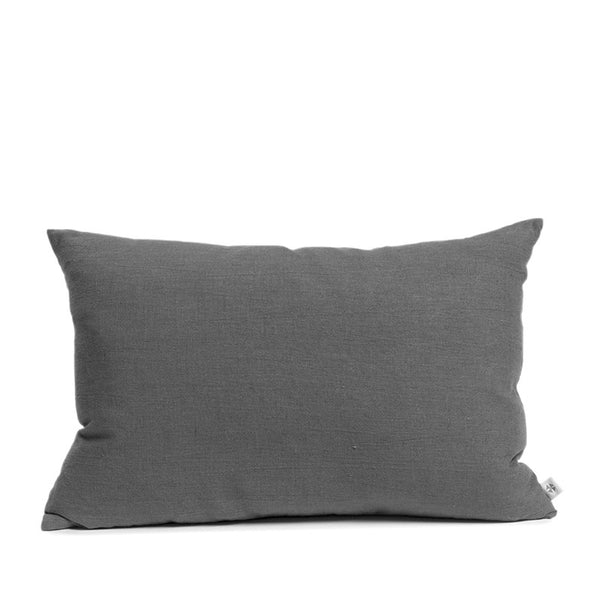 Linen cushion slate rectangular