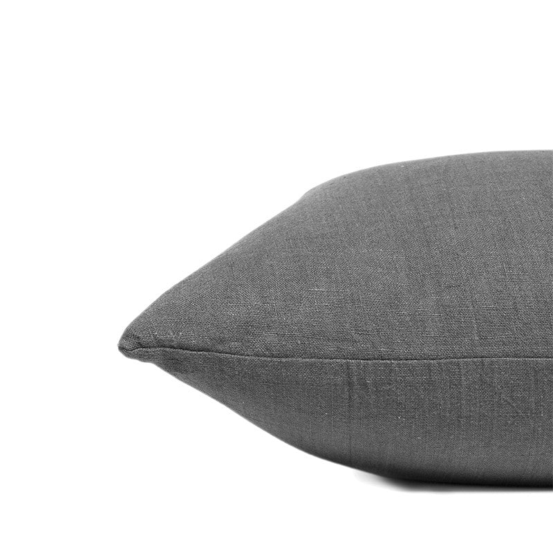 Linen cushion pebble solid rectangular