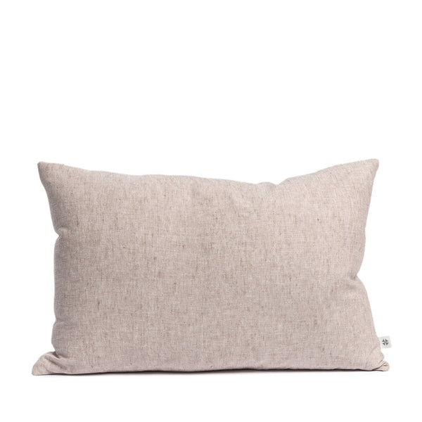 Linen cushion pink salt rectangular