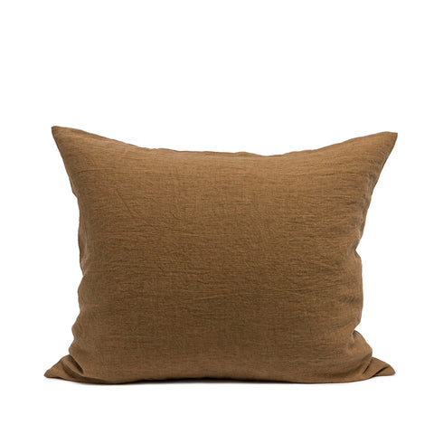 Linen pillow case cinnamon