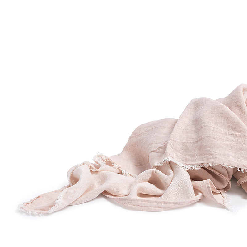 Linen throw blush