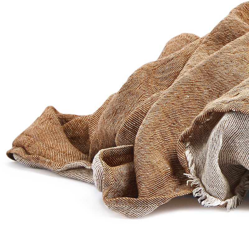 Linen throw hazel