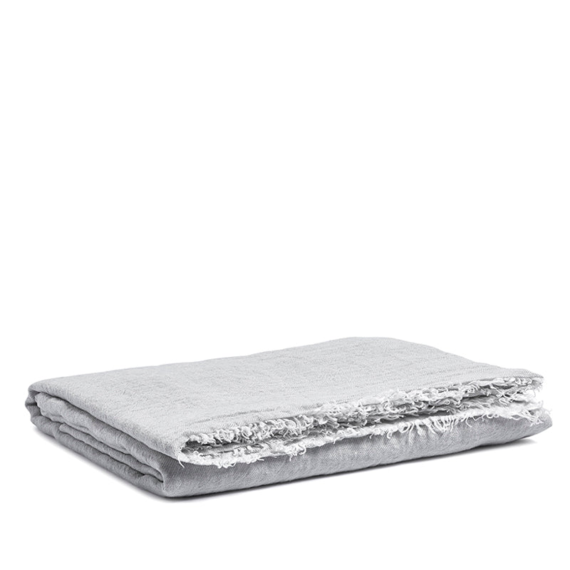 Linen throw misty grey