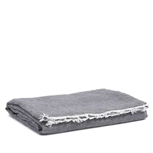 Linen throw pebble