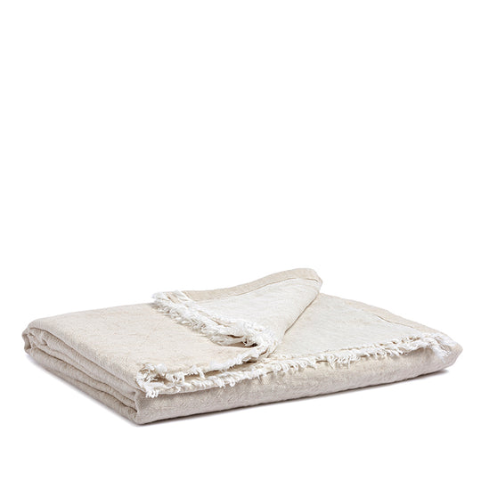 Linen throw sea shell