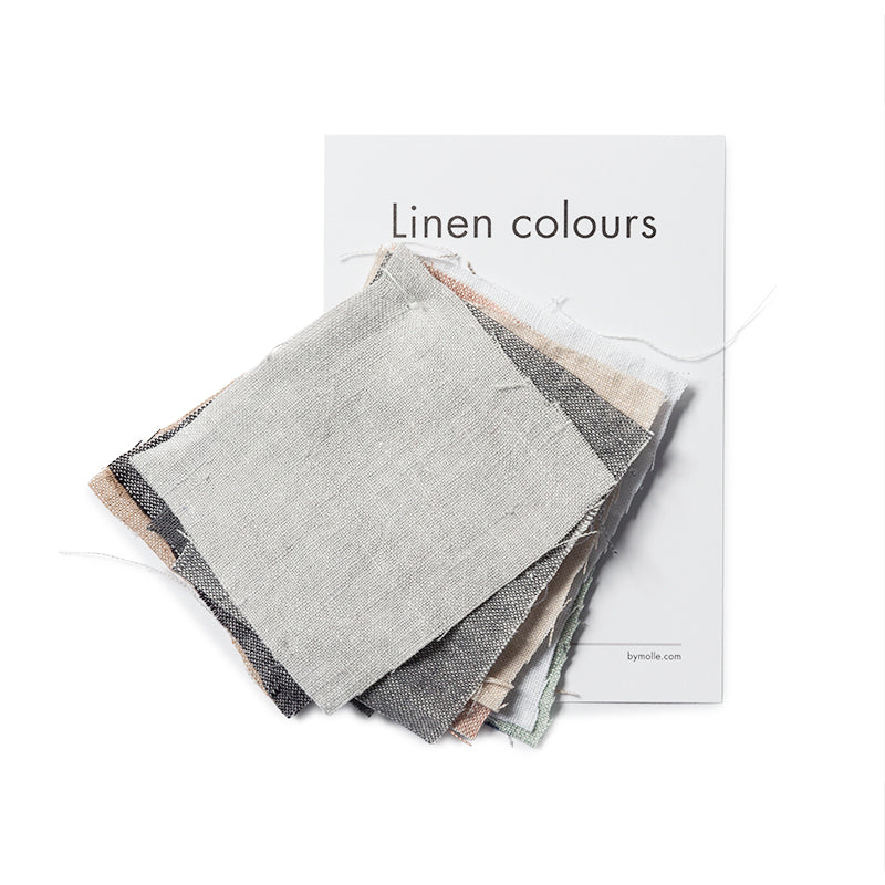 Linen curtain fabric samples