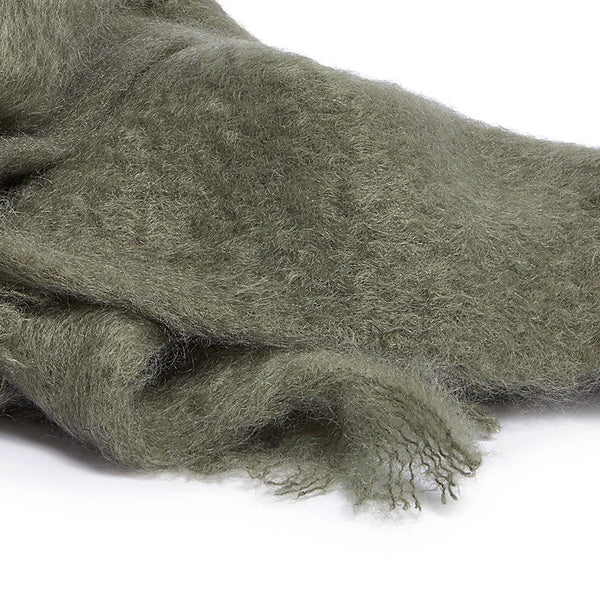 Mohair sjaal olive