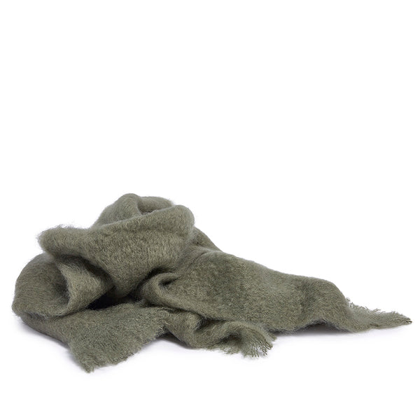 Mohair wrap olive