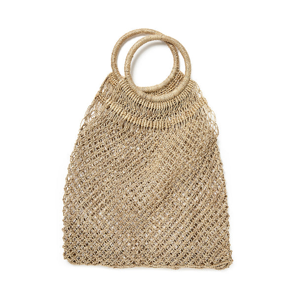 Jute macramé shopper