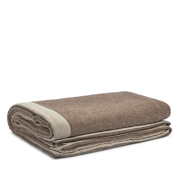 Gotland wool blanket brown