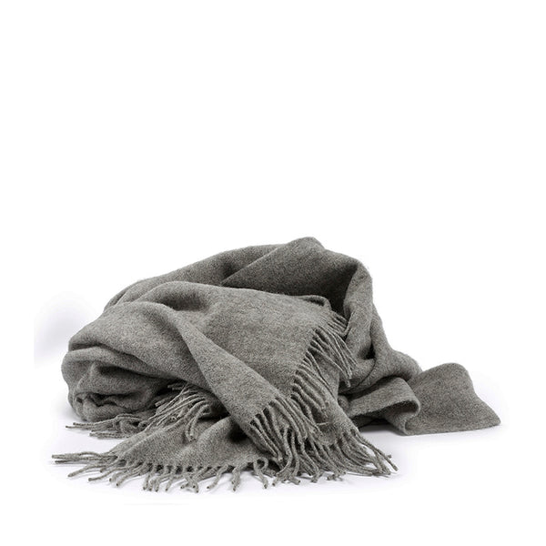 Woolen throw grey
