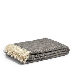 Woolen throw tweed
