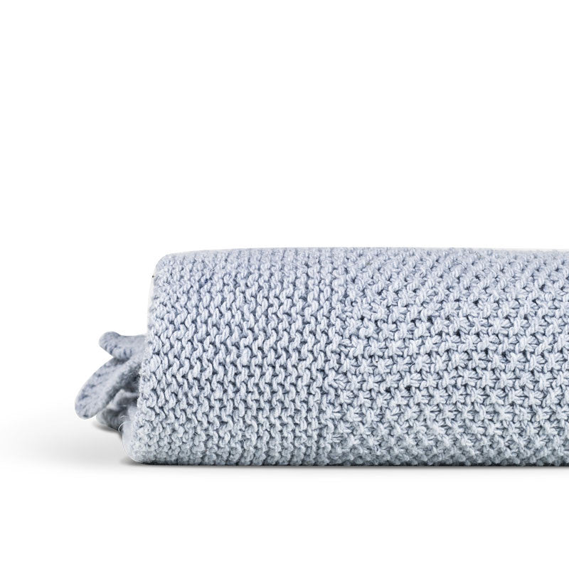 Recycled denim throw soft blue