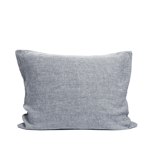 Linen pillow case cloudy blue