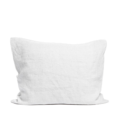 Linen pillow case misty grey