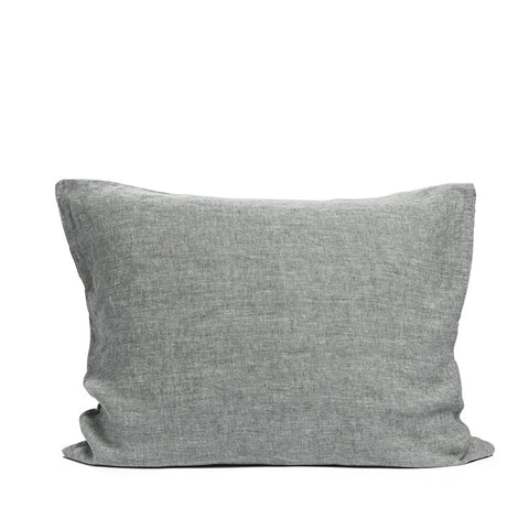 Linen pillow case pebble