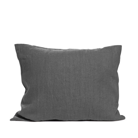 Linen pillow case pebble solid