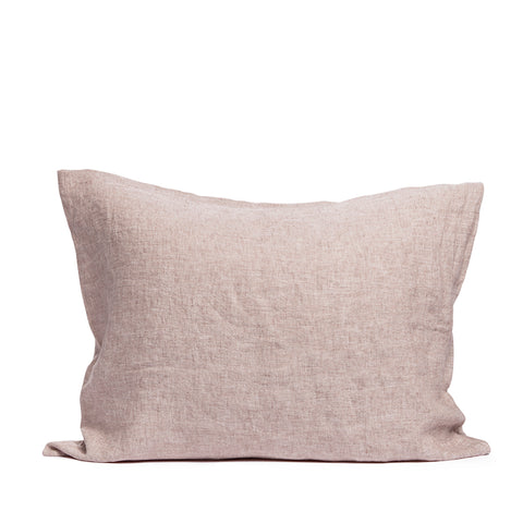 Linen pillow case pink salt