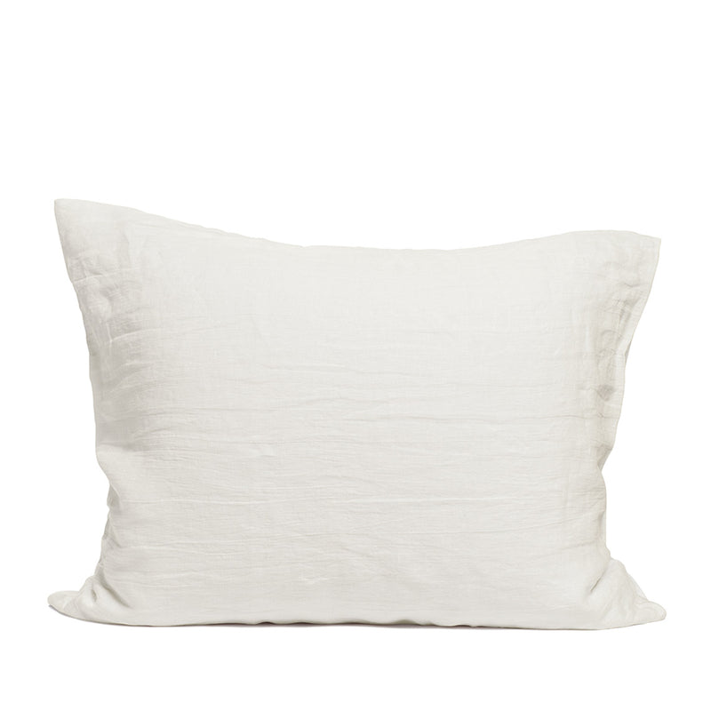 Linen pillow case warm white