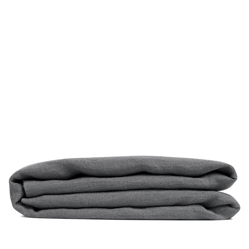 linen sheet dark grey