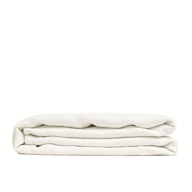 Linen flat sheet warm white