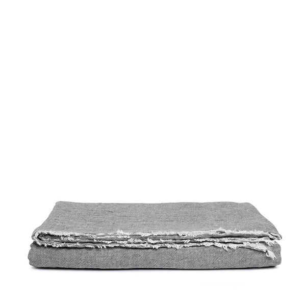 Linen tablecloth pebble