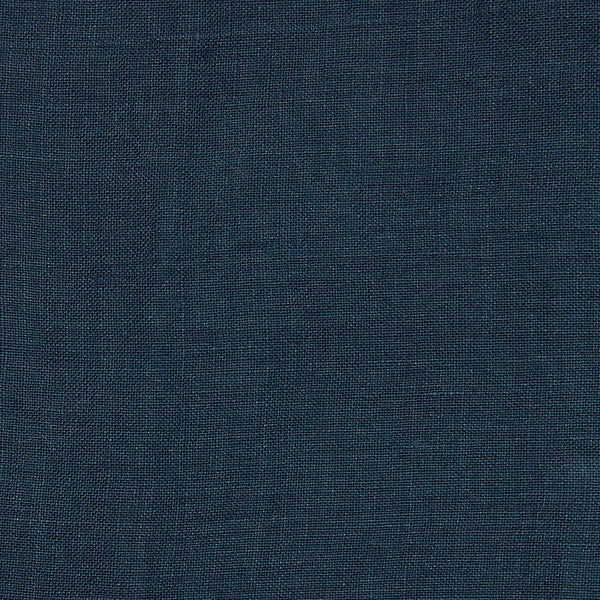 Linen fitted sheet indigo