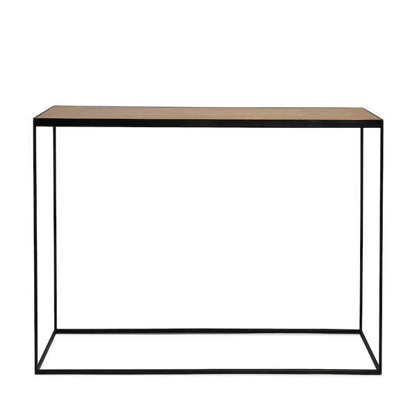 Side table wood steel