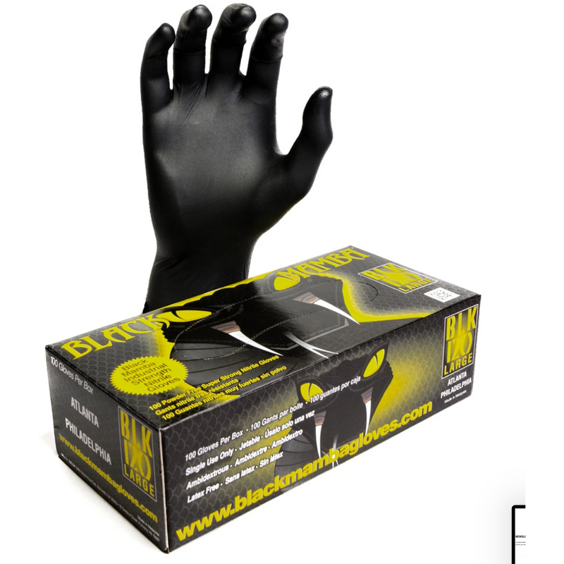 BLACK MAMBA NITRILE GLOVES | LARGE | X LARGE