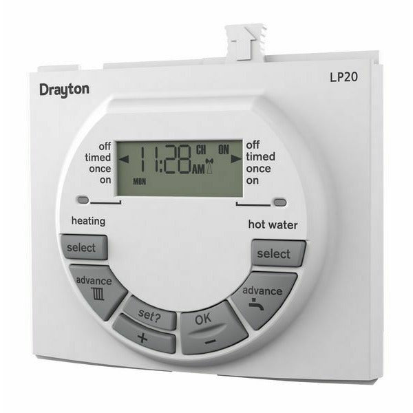 Drayton LP20 Dual Channel Programmer with Digistat + RF | RF562DR