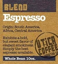 Buy Utica Coffee Roasting Co. Espresso Blend Coffee Now