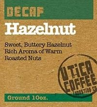 Buy Utica Coffee Roasting Co. Hazelnut Decaf Flavored Coffee Now