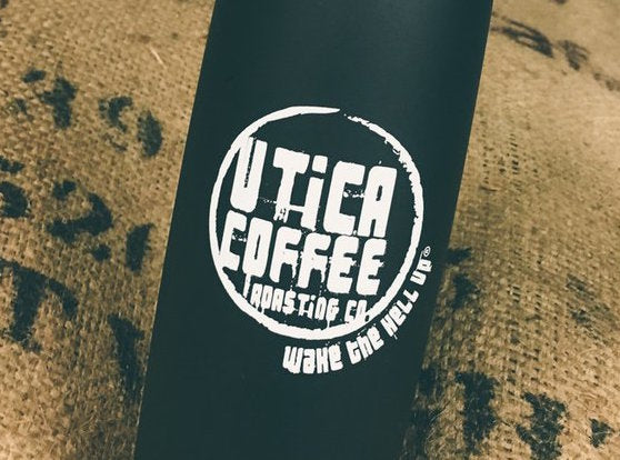 Utica Coffee Roasting Co. Swag: UCR Travel Mug