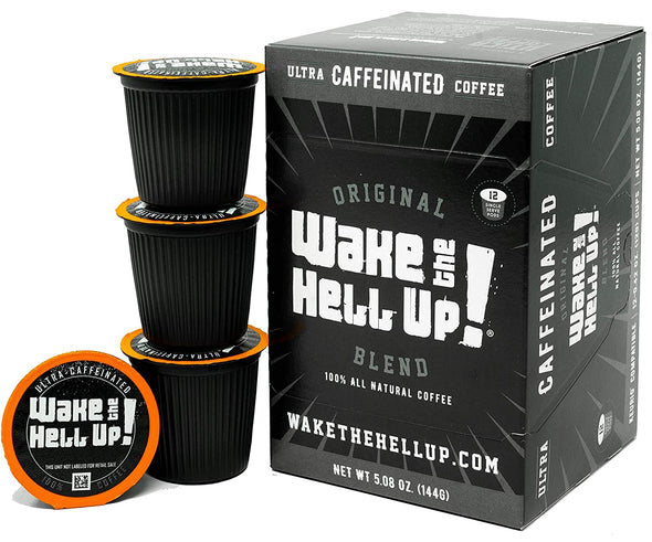 Wake The Hell Up!®️ Single Serve K-Cup Compatible Original Pods - Utica Coffee Roasting Co.