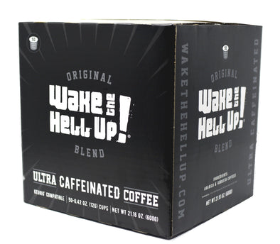 Wake The Hell Up!®️ Single Serve K-Cup Compatible Original 50 Ct Box - Utica Coffee Roasting Co.