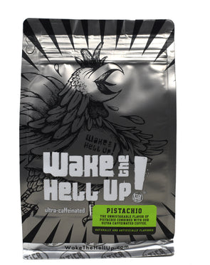 Wake The Hell Up! Pistachio Flavored Coffee - Utica Coffee Roasting Co.