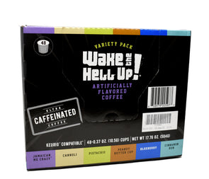 Wake The Hell Up!®️ Single Serve K-Cup Flavored Variety Pack 48 Ct Box