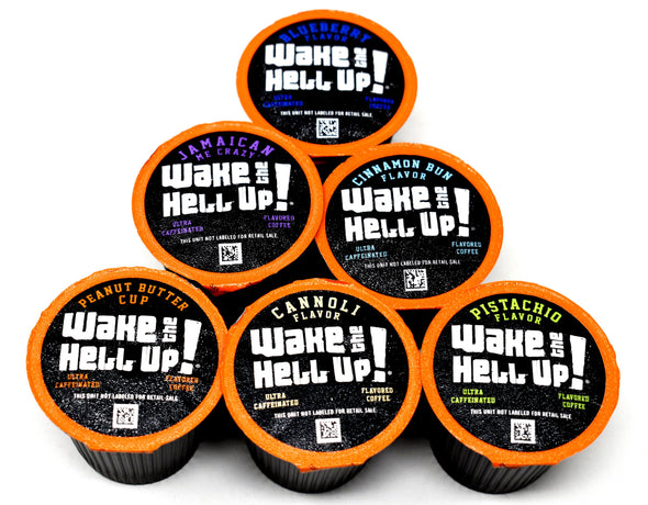 Wake The Hell Up!®️ Flavored Variety Pack Single Serve K-Cup 48 Ct Box - Utica Coffee Roasting Co.