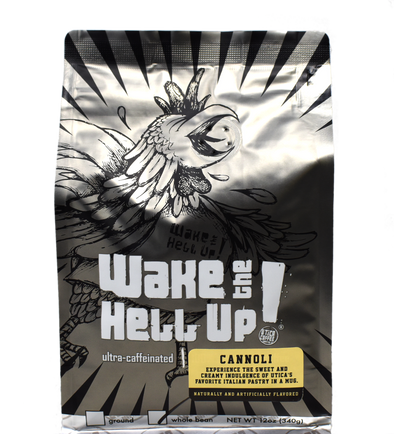 Wake The Hell Up! Cannoli Flavored Coffee - Utica Coffee Roasting Co.