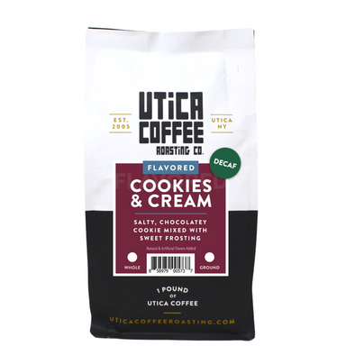 Decaf Cookies & Cream - Utica Coffee Roasting Co.