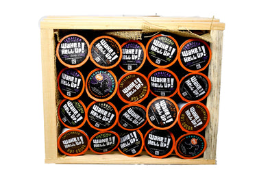 Wake The Hell Up! Single Serve Pods Gift Basket - Utica Coffee Roasting Co.