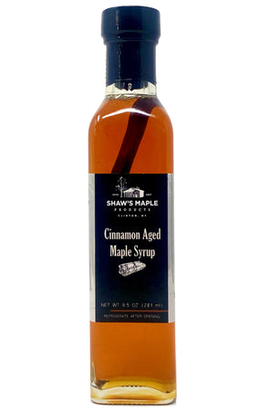 Cinnamon Aged Maple Syrup - Utica Coffee Roasting Co.