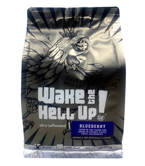 Wake The Hell Up! Blueberry Flavored Coffee - Utica Coffee Roasting Co.